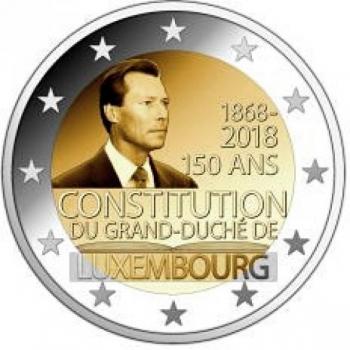 Luksemburgi  2018 a 2€ juubelimünt  - Luksemburgi põhiseaduse 150. aastapäev