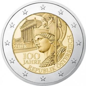 Austria 2018 a 2€ juubelimünt -  Austria Vabariigi 100. aastapäev