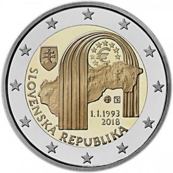 Slovakkia 2018. a 2 € juubelimünt - Slovaki Vabariigi 25. aastapäev