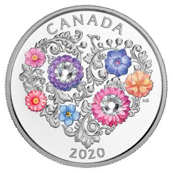 Rakkauden Vuosipäivä - Kanada  3 $ 2020 v. 99,9% hopearaha väripainatuksella, Swarovski® kristalli, 7,96 g