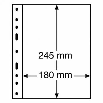 Optima margileht  1 vahega (180 x 245 mm) , must taust