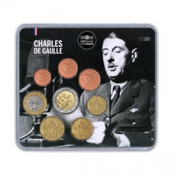 Prantsusmaa euromündkomplekt 2020. a.  Charles de Gaulle