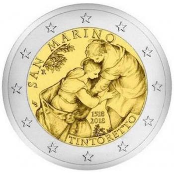 San Marino 2€ erikoisraha 2018 - 500 vuotta Tintoretton syntymästä