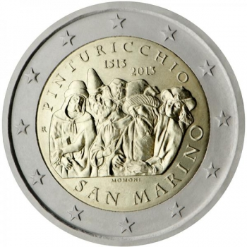 2 € юбилейная монета 2013  г.Сан -Марино - 500 лет со дня смерти художника Пинтуриккьо