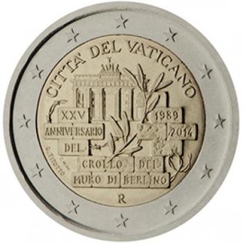 Vatikani 2 Eur 2014 juubelimünt - Berliini müüri langemise 25. aastapäev