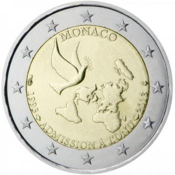 Monaco 2€ erikoisraha 2013 - YK-jäsenyys 20 vuotta