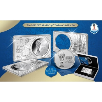 Серебряная монета в слитке - Чемпионат мира по футболу FIFA 2018 в России