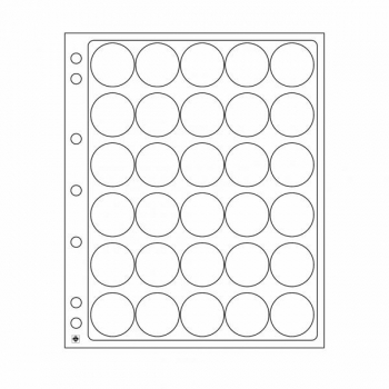 Plastikleht ENCAP 32/33 mm kapslis müntidele 2 lehte pakis