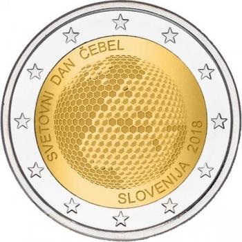 Sloveenia 2018. a 2 € juubelimünt -Ülemaailmne mesilaste päev