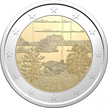 2 € юбилейная монета 2018 г. Финляндия - Культура финской сауны