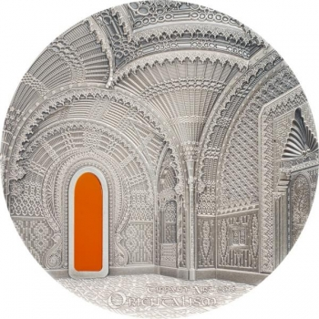 Тиффани - Ориентализм - 99,9% серебряная монета с антик обработкой 2018 г. Палау  10 $ 2--унций