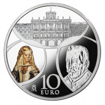 Europa 2018.v.  Barokki ja rokokoo - Espanja 10 €  92,5 % hopearaha, 27 g