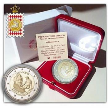 Monaco 2018. a 2€ juubelimünt -  François-Joseph Bosio