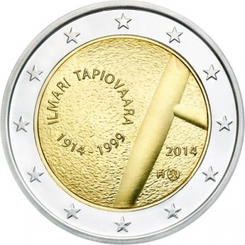 2 € юбилейная монета 2014 г. Финляндия - 100 лет со дня рождения Илмари Тапиоваара
