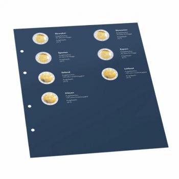 Lisalehed Optima 2€ juubelimüntide ühisteema albumile - Balti riikide 100 aastat
