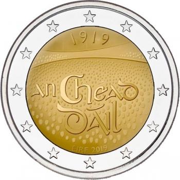 Irlanti 2€ erikoisraha 2019 - 100 vuotta Irlannin Parlamentin  Dáil Éireann 1. kokuksesta