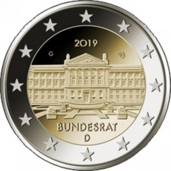 "Saksamaa 2019.a. 2€ juubelimünt ""Bundesrat"""