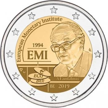2 € юбилейная монета 2019 г.Бельгия  - 25-летие Европейского валютного института (EMI)