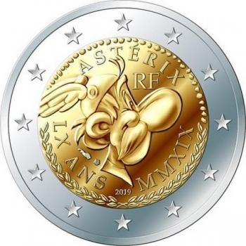 2 € юбилейная монета 2019  г.Франция - 60 лет Астериксу