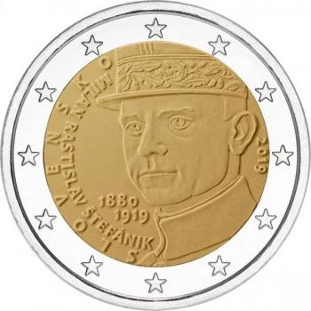 Slovakia 2€ erikoisraha 2019 - 100 vuotta Milan Rastislav Štefánikin kuolemasta