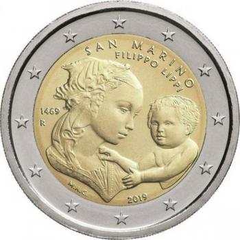 San Marino 2019 2 eur juubelimünt -Filippo Lippi 550. surma aastapäev
