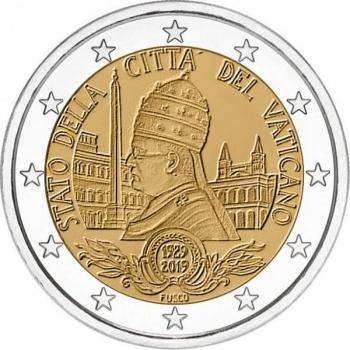 2 € юбилейная монета 2019  г.Ватикан  - 90-летие основания города‑государства Ватикан
