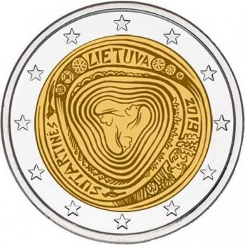 Liettua 2€ erikoisraha 2019 - Moniääniset Sutartine-laulut