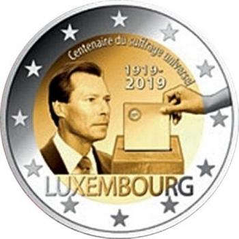 2 € юбилейная монета 2019 г. Люксембург - 100-летие всеобщего голосования в Люксембурге