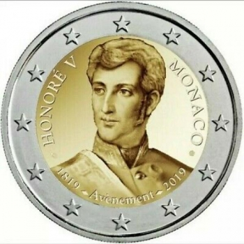 Monaco 2€ commemorative coin 2019 -The 200th anniversary of the accession to the throne of Prince Honoré V