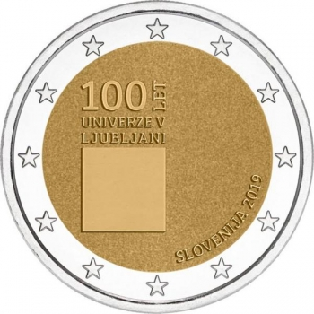 Slovenia 2€ commemorative coin 2019 - The 100th anniversary of the foundation of the University of Ljubljana
