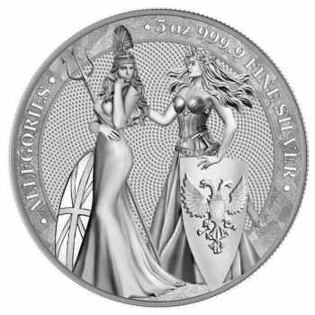 Allegoria 2019 - Britannia & Germania  25 mark, 99,9% hõbemünt, 5 oz