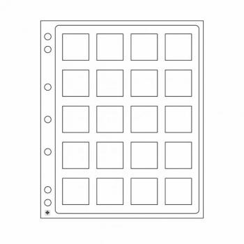 Пластиковый лист ENCAP для монет в Quadrum Mini капсуле - 2 листа в упаковке