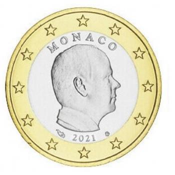 Monaco Albert II  2€ käibemünt 2021.a.