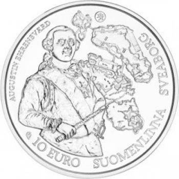 Europa 2018.v.  Barokki ja rokokoo - Suomi 10 €  92,5 % hopearaha, 17 g