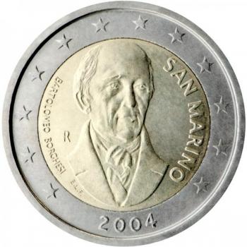 2 € юбилейная монета 2004  г.Сан -Марино - Бартоломео Боргези