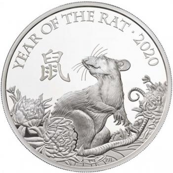 Rotan vuosi 2020 - Iso-Britannia 2 GBP 99,9% 1-unssi hopearaha,