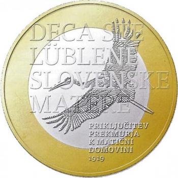 Sloveenia 2019. a 3 € juubelimünt - Prekmurje regiooni emamaaga ühinemise 100. aastapäev