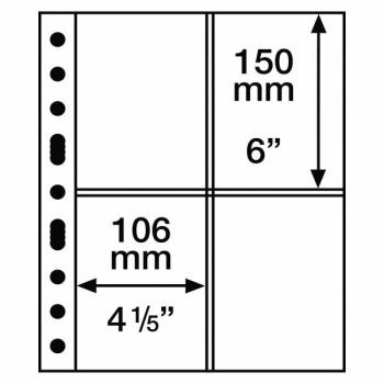 Grande leht 4 vahega - 2 CT - 4 taskut 150 x 106 mm. Sobib postkaartidele