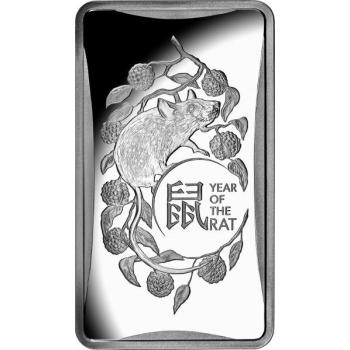 Год Крысы 2020  - Австралия 1 $, 99.9% серебрянная монета 1/2 унции