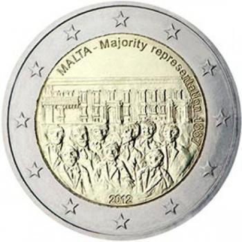 Malta 2€ erikoisraha 2012 -Valtiosäännön historia – Maltalaisten enemmistöedustus perustuslakiin vuonna 1887