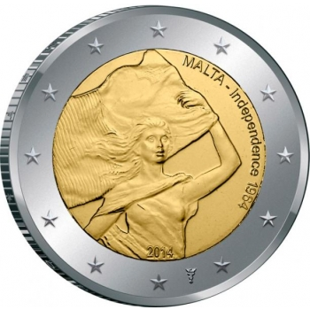 Malta 2€ erikoisraha 2014 -Valtiosäännön historia – Maltan itsenäistyminen