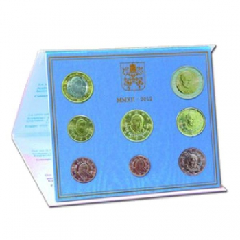 Годовой набор Евро монет Ватикан 2012 года  - комплект