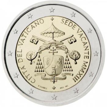 2 € юбилейная монета 2013 г.  Ватикан - Sede Vacante