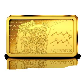 Horoskooppimerkit - Vesimies - Salomonsaaret 10 $ 2020.v. 99,99% kultaraha 0,5 g