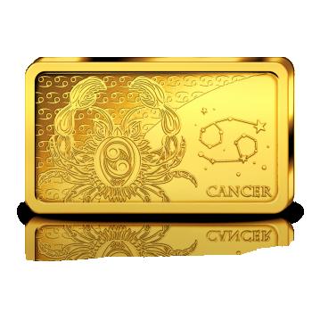 Sodiaagimärgid -Vähk  Saalomoni saarte 10 $ 2020.a  0,5 g 99,99% kuldmünt