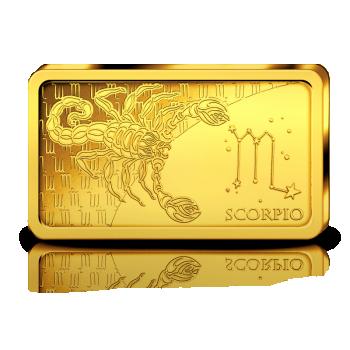 Horoskooppimerkit - Skorpioni. Salomonsaaret 10 $ 2020.v. 99,99% kultaraha 0,5 g