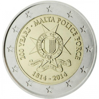 Malta 2014 a 2€ juubelimünt - Malta politsei