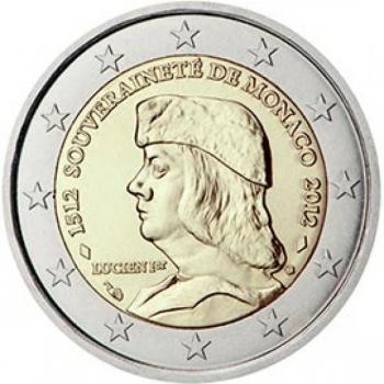 2 € юбилейная монета Монако 2013 г. - 500 лет признанию независимости Монако