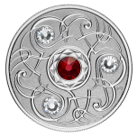 Birthstone January. Canada 5$ 2020 99,99% silver coin with Swarovski crystals, 7,96 g