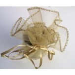 Small golden package, organza
